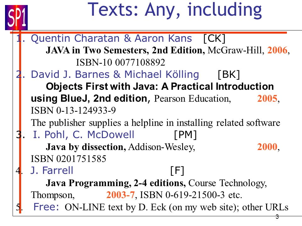 Texts: Any, including Quentin Charatan & Aaron Kans [CK]